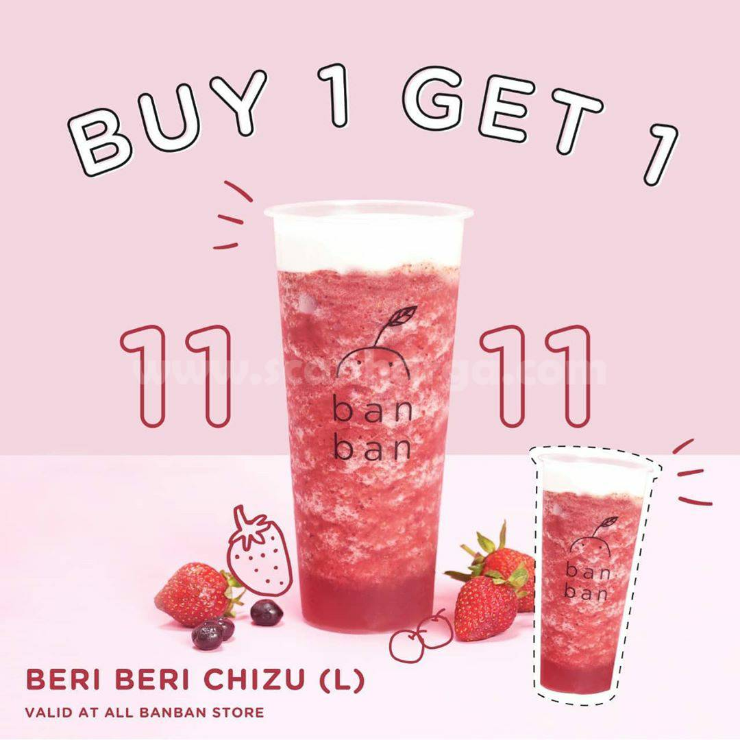 Promo Ban Ban Cheese Tea Buy 1 Get 1 Free