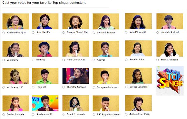 Flowers Top Singer contestants