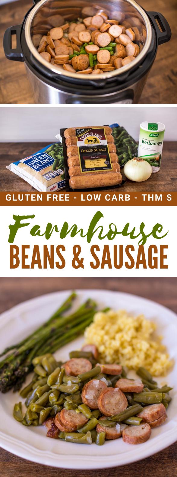 Farmhouse Beans & Sausage (Gluten-Free) #lowcarb #thms