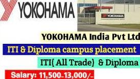 ITI and Diploma Job Campus Placement Drive For Yokohama India Pvt. Ltd Company At Govt. ITI  Mandi, Himachal Pradesh