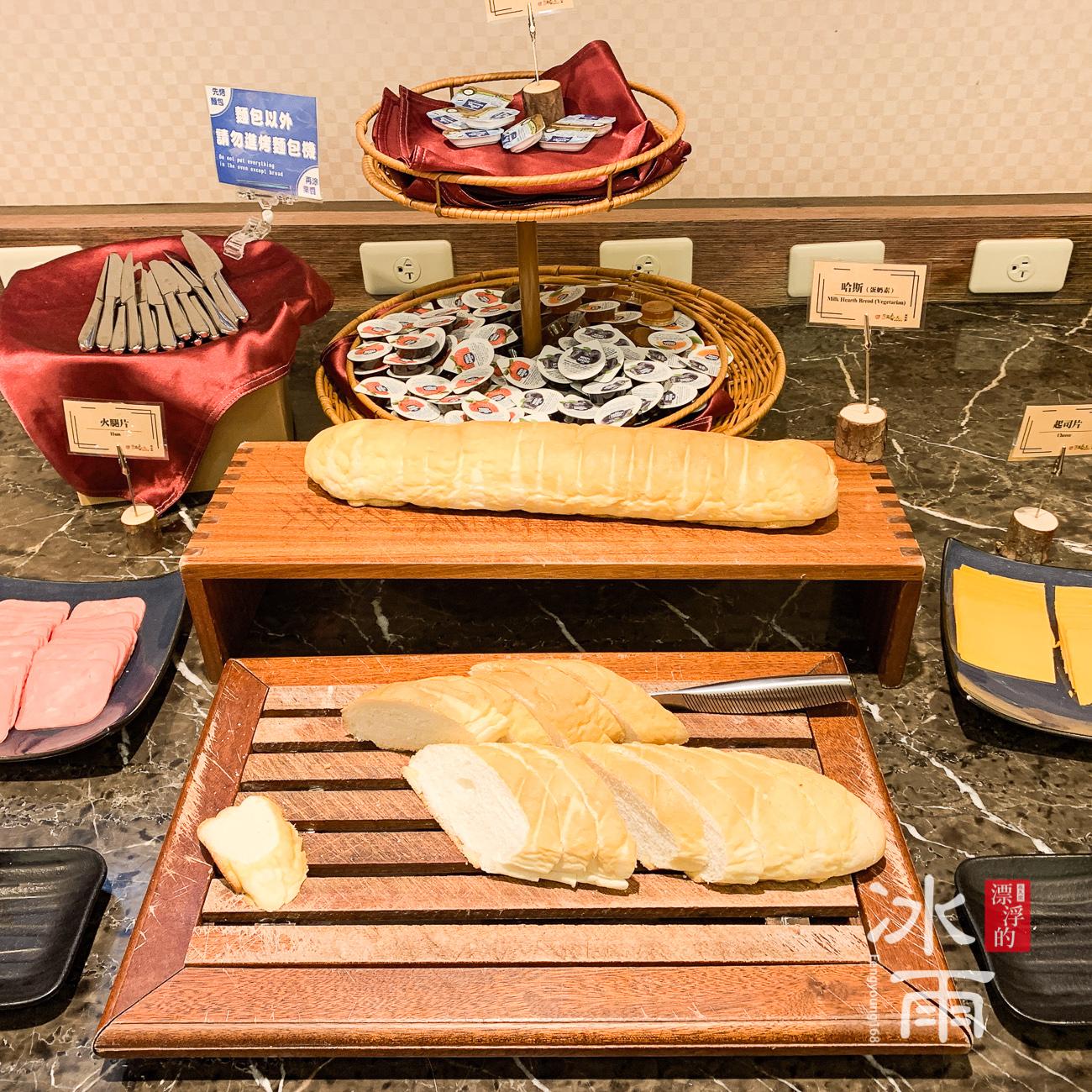川湯春天溫泉飯店德陽館 早餐 麵包