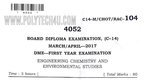 old polytechnic chemistry question papers in pdf formate
