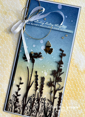 Sending healing thoughts through a handcrafted card, sharing nature and peace by Andrea Sargent in Australia.