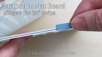 Quilling Circle Template: Method 2: Mat Board