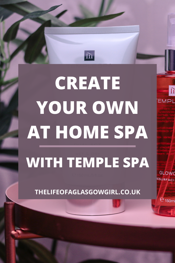Pinterest image for Create your own at home spa with Temple Spa - Looking for ways to create your own at home spa? Want to achieve the ultimate spa feeling? Then look no further