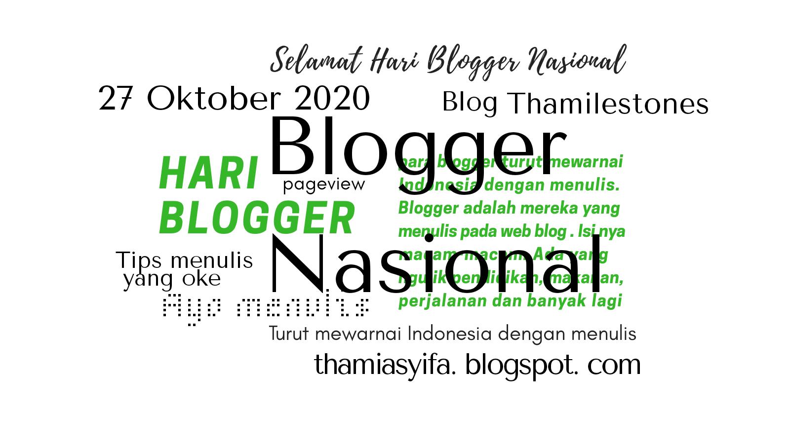 Selamat hari blogger nasional