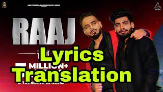 Raaj lyrics   Translation   in Hindi - Sumit Goswami