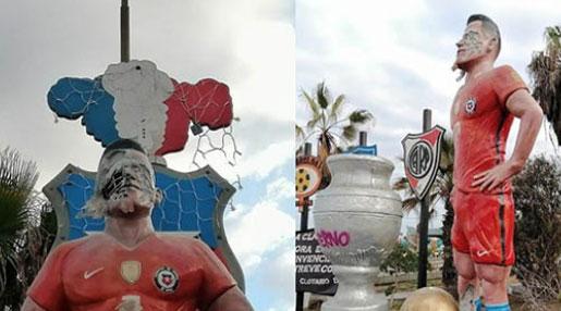 Bức tượng thảm họa của 'bom xịt' M.U bị đập nát mặt