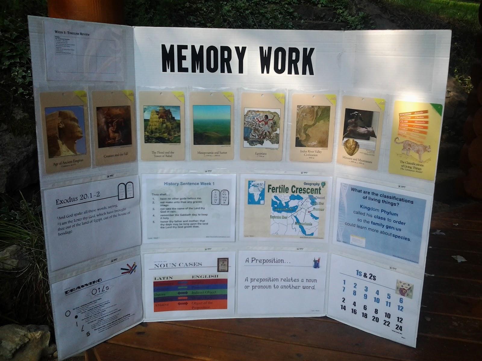 memory work tri fold board half a hundred acre wood