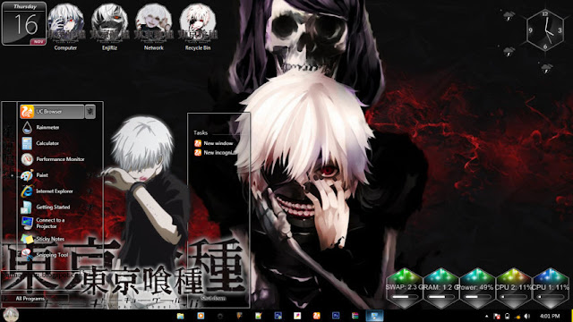 Tokyo Ghoul Theme Win 7 by Enji Riz Lazuardi