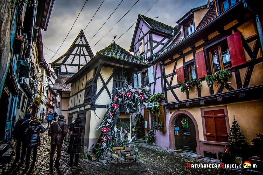 Mercado de Navidad de Eguisheim, Alsacia
