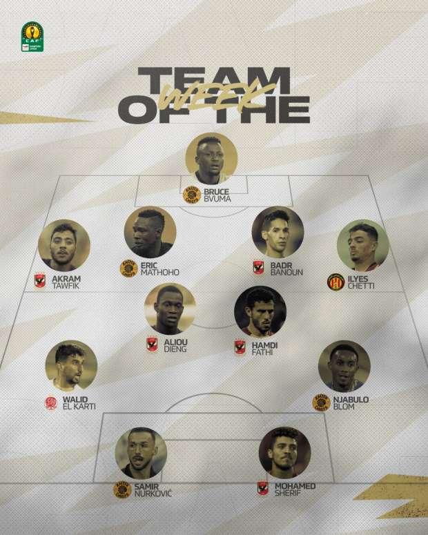 التشكيل الأفضل لنصف نهائي دوري أبطال أفريقيا