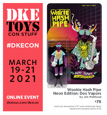 DKECON 2021 Exclusive Wookie Hash Pipe Dos Vapors Resin Figure by Jim Mahfood x DKE Toys