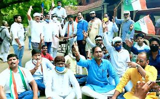 डीजल-पेट्रोल के दाम में वृद्धि होने पर कांग्रेस ने किया प्रदर्शन   #NayaSabera