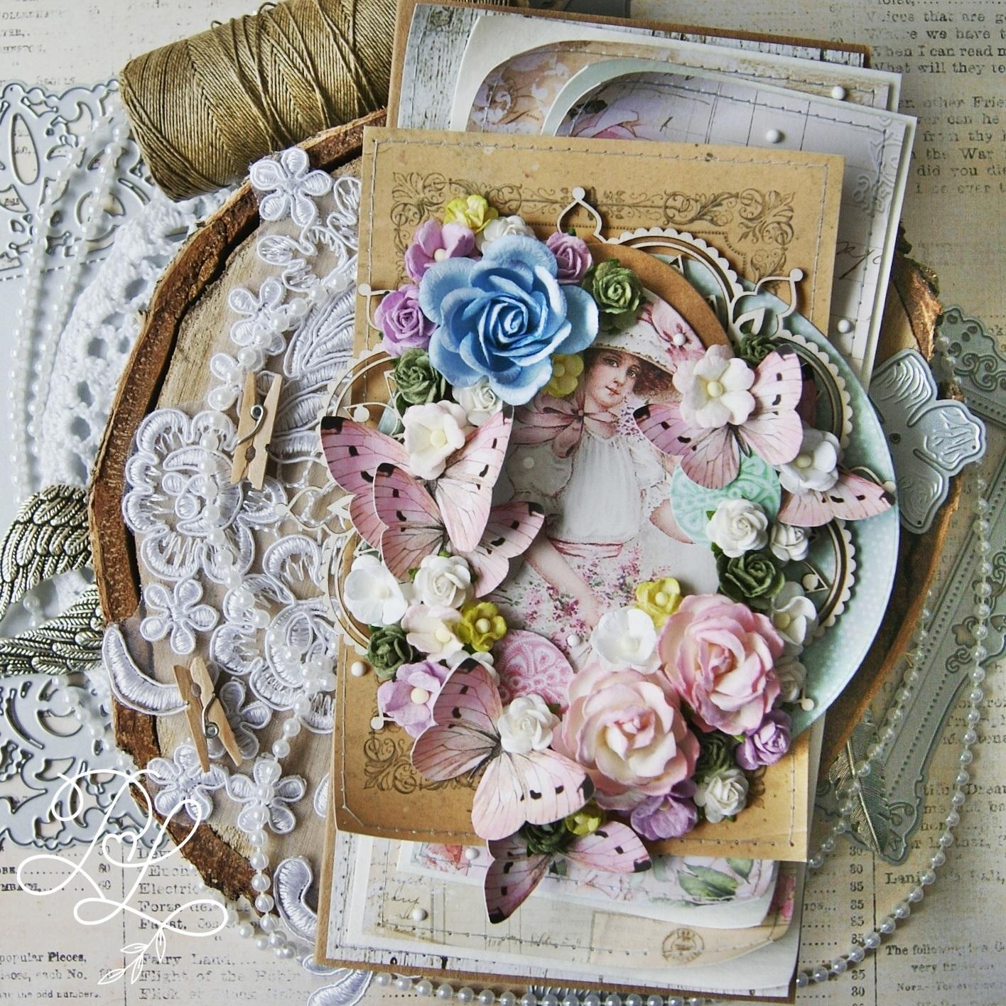 Trochę vintage, dużo kwiatów i motyli czyli moje ukochane klimaty