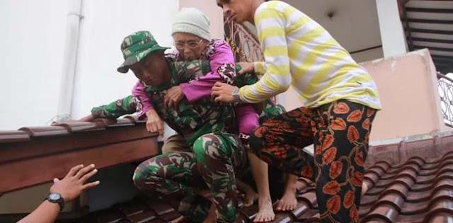 Banjir Landa Ibukota, Pasukan Lantamal III Diterjunkan