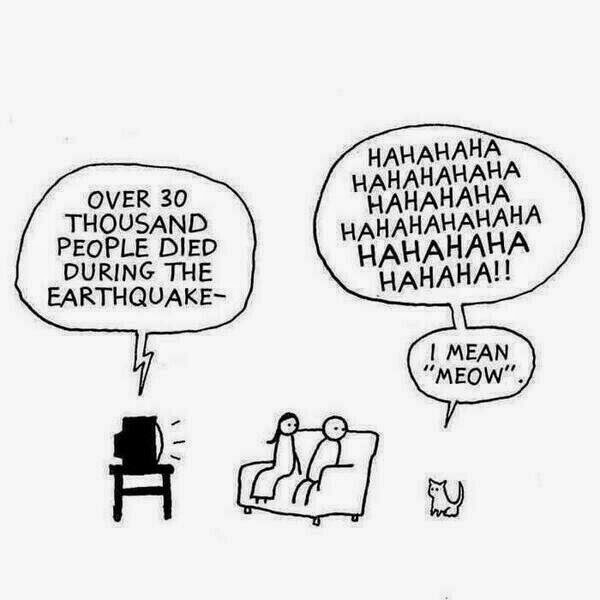 Funny Evil Cat Cartoon Joke Picture - Over 30 thousand people died