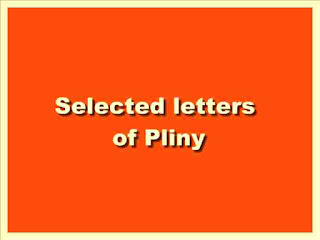 Selected Letters of Pliny.