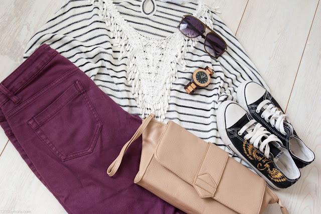 Outfit inspiration, Stripes, Miss Etam,