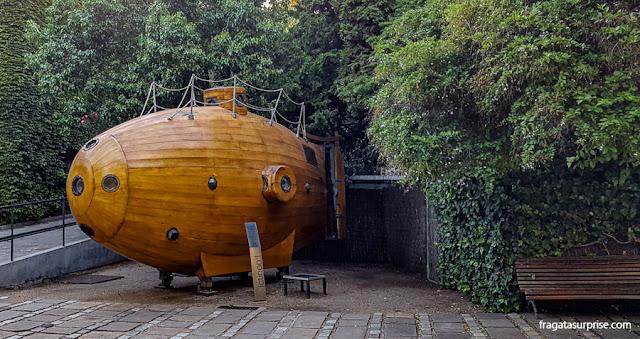 Submarino do Século 18 no Museu Marítimo de Barcelona