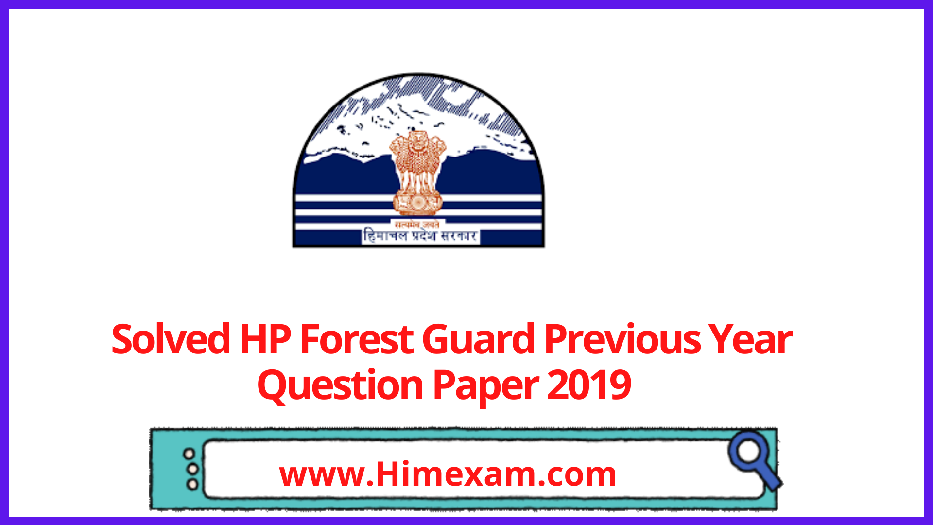 Solved HP Forest Guard Previous Year Question Paper 2019