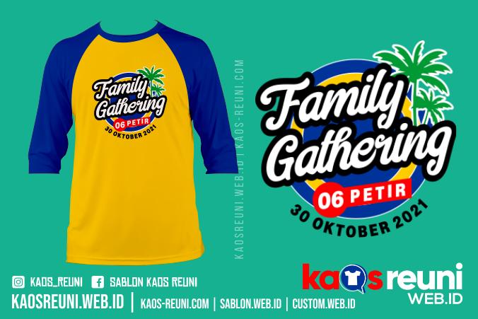 Kaos Family Gathering 06 Petir 2021 - Sablon Kaos Reuni Gathering