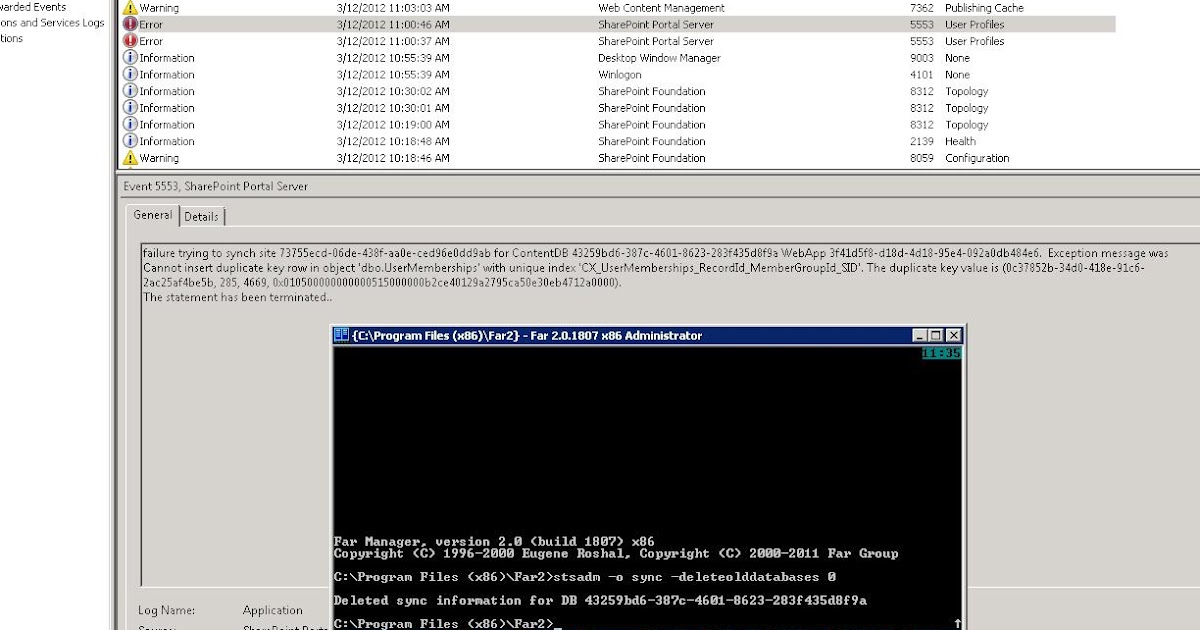 Sharing the experience sharepoint 2010 user profiles failure trying