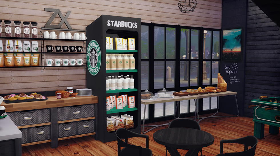 Starbucks Coffee Shop Lot Furnished Dreamteamsims