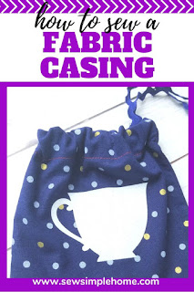 Learn how to make a casing for elastic or ribbon with this simple sewing tutorial.