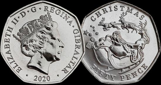 Gibraltar 50 pence 2020 - Christmas