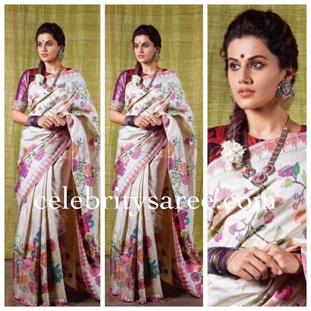 Taapsee Uppada Silk Saree by Gaurang