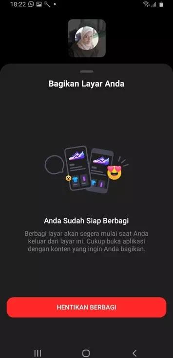 Cara Share Screen di Facebook Messenger-4