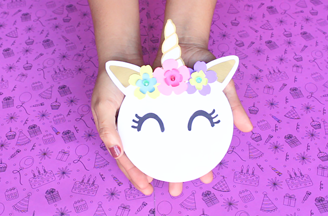 Unicornio Invitación Diy Moldes Party Pop
