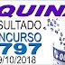 Resultado da Quina concurso 4797 (09/10/2018) ACUMULOU!!!