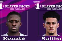 Konaté, Saliba & Perr Schuurs Face - PES 2020