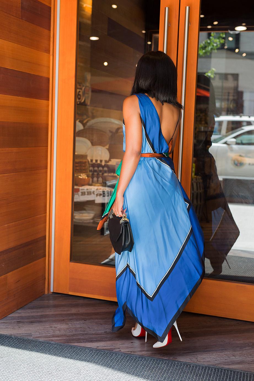 Summer Wedding In Asymmetric Scarf Dress Jadore Fashion