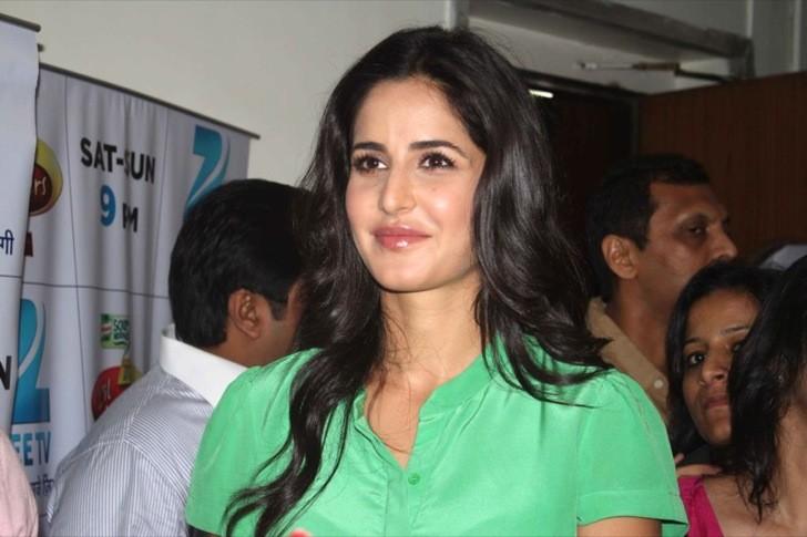 Katrina kaif Latest Cute Stills In Green Dress