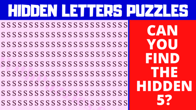 Can you find the hidden number or letter?