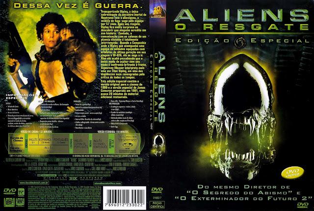 Capa DVD Aliens O Resgate (Edição Especial)