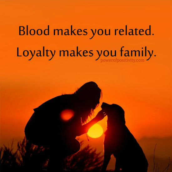 Blood Makes You Related Loyalty Makes You Family Quote 101 Quotes