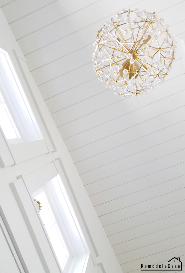 how to install shiplap on ceiling