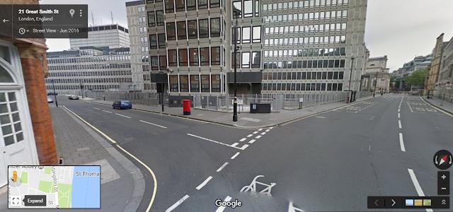 ستريت فيو لاحد شوارع لندن من خدمات قوقل مابس