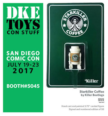 San Diego Comic-Con 2017 Exclusive Starkiller Coffee Star Wars Resin Figure by Killer Bootlegs x DKE Toys
