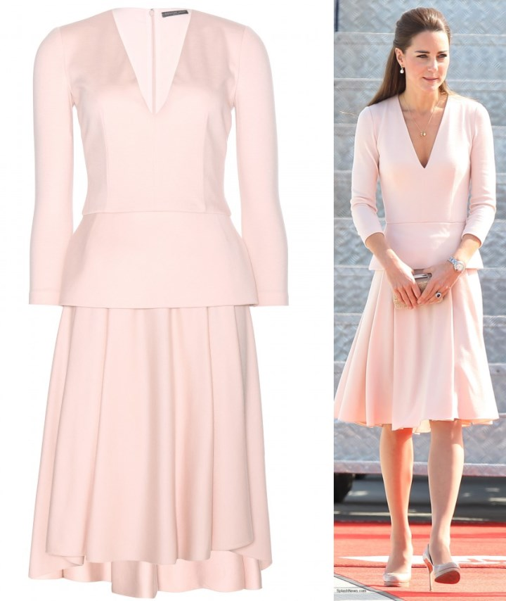 4378ff929380e Duchess Kate: Kate Deejays in Pink McQueen for Adelaide Visit