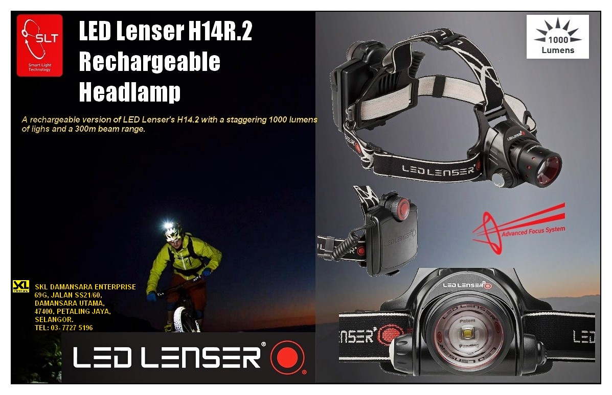 Christmas Promo!!!Christmas Promotion!!LED Lenser High Performance Rechargeable Headlamp H14R.2
