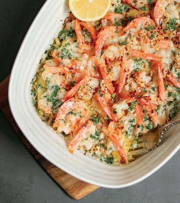Spaghetti Squash And Shrimp Bake Recipe