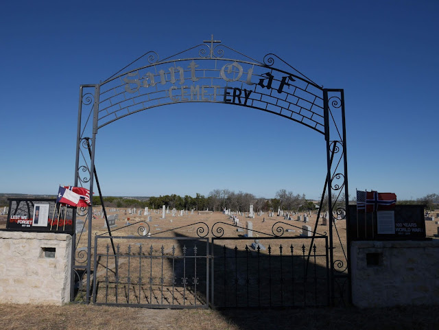St. Olaf's Cemetery; Old Rock Church, Texas