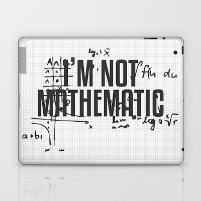 I'M NOT MATHEMATIC TYPOGRAPHY
