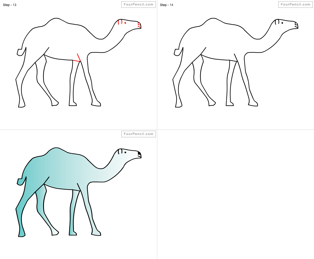 It is a picture of Légend Simple Camel Drawing