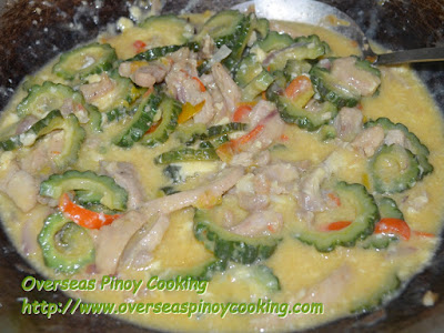 Ginisang Ampalaya with Pork - Cooking Procedure